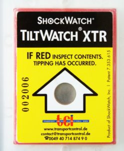 Indikátor překlopení TiltWatch