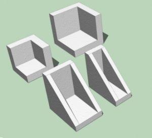 Polystyrenové ochranné rohy