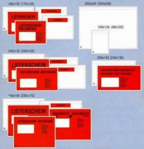 Samolepící obálky na průvodní listiny